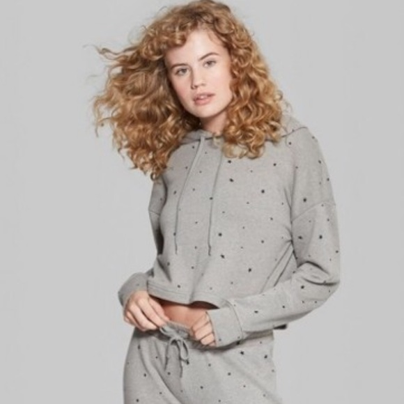 NWT Wild Fable Cropped Star Hoodie